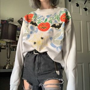 VINTAGE / halloween sweater